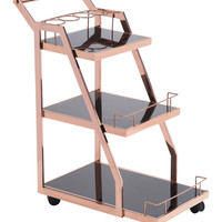 ACROPOLIS SERVING CART ROSE GOLD