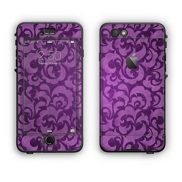 The Purple Bright Lace Pattern Apple iPhone 6 Plus LifeProof Nuud Case Skin Set