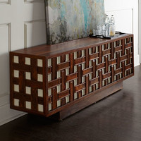 Global Views Kenny Basketweave Console