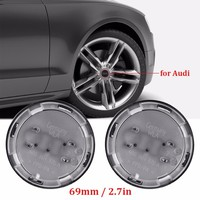 4x 69MM  Car-styling Car Logo Rim Accessories  Wheel Hub Cap Cover 3D Sticker For Audi  A6 C6 RS6