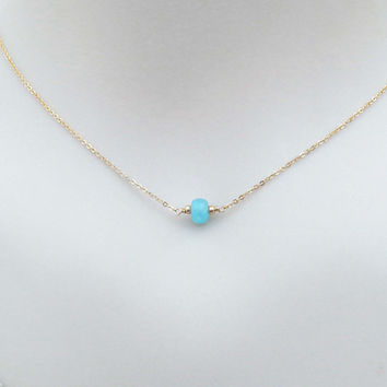 Aqua, Blue, Breeze, Stone, Gold filled, Sterling silver, Chian, Necklace, Lovers, Friends, Mom, Sister, Gift, Jewelry