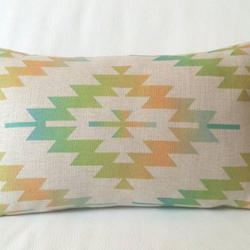Aztec Pillow Cover, Pillow Cover, Decorative Pillow Cover, Kilim Pillow Case, Cushion Cover, Linen Pillow Cover, Throw Pillow, 12x18 Cushion