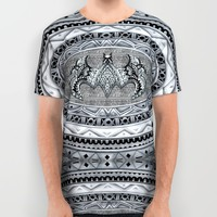 Bat Aztec pattern All Over Print Shirt by Greenlight8