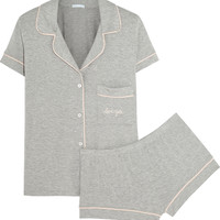 Eberjey - Gisele embroidered stretch-jersey pajama set