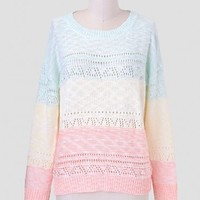 Sweet Sherbet Pastel Sweater