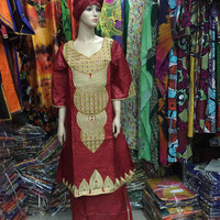 African woman clothing bazin dress