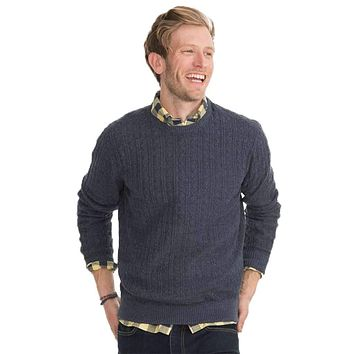 Perry Cable Knit Crewneck Pullover Sweater by Southern Tide