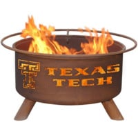 Texas Tech Steel Fire Pit by Patina Products
