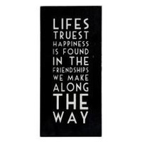 Lifes Truest Happiness Wooden Wall Plaque Sign | Sentimental | Gifts | £12.99 - The Contemporary Home Online Shop