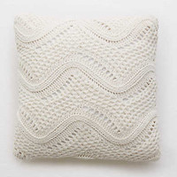 Aerie Real Obsessed™ Zig Zag Pillow, Cream