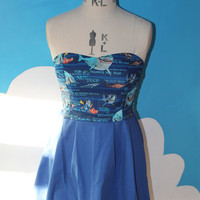 2 tone disney finding nemo sweet heart dress