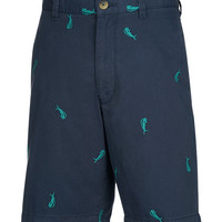 Men's Bull Dolphin Embroidered Fishing Short