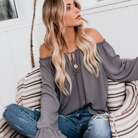 Classic Tale Blouse - Medium Grey