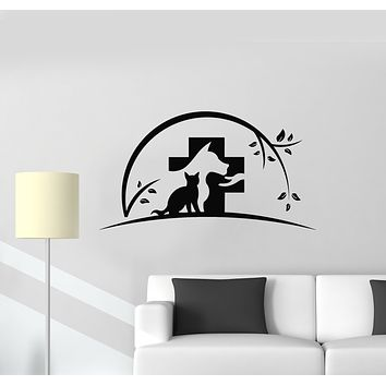 Vinyl Wall Decal Animals Vet Pets Shop Veterinary Medicine Clinic Stickers Mural (g922)