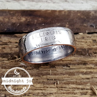 Illinois State Quarter Coin Ring