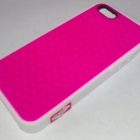 Vans Sneaker Shoe Tread White Hot Pink Case Rubber Skin Cover For iPhone 5
