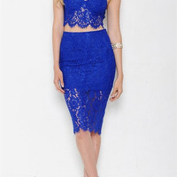 Super Fine Two-Piece Dress - Royal Blue