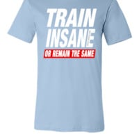 Train Insane Or Remain The Same (2) - Unisex T-shirt