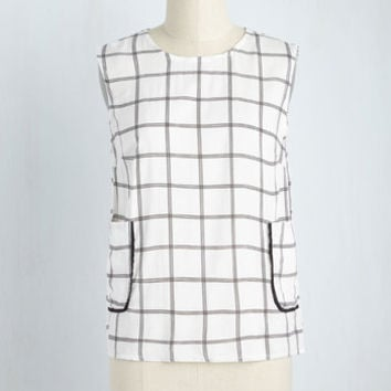 Crosswords to Live By Top | Mod Retro Vintage Short Sleeve Shirts | ModCloth.com