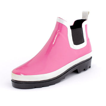 Rubber Shoes Pink Korean Boots [4915340676]