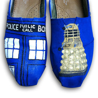 Doctor Who Painted Toms Shoes