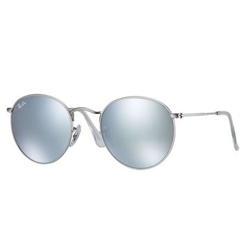 2742a1efa7c14 Ray-Ban Round Flash Lenses Sunglasses Silver  Silver Flash 50mm