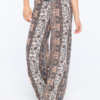 H.I.P. Ethnic Print Womens Palazzo Pants Multi  In Sizes