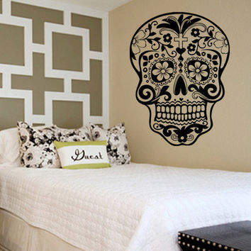 Sugar Skull Decal Sticker Wall Vinyl Day of the Dead
