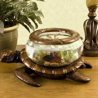 Betta Art Decorative Turtle Bowl