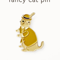 Monocle Cat Enamel Pin - Dandy Cat Pin - Cat Enamel Pin by boygirlparty