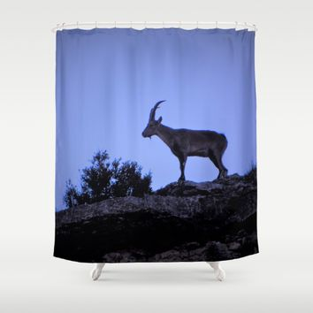 The mountain goat (Lo Salvatge) Shower Curtain by  it´s Ephemeral