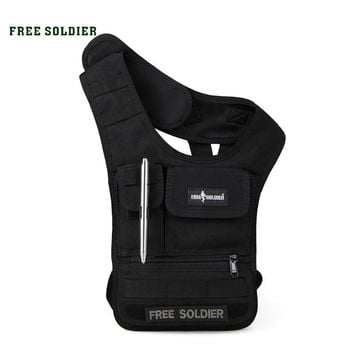 FREE SOLDIER Outdoor Sports Hiking Vest Bag MOLLE System Tablet IPAD Bag Men's Purse & Wallet CORDUAR Material YKK Zipper Bags