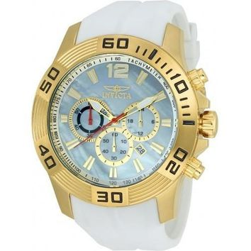 Invicta Men's 20296 Pro Diver Quartz Chronograph Platinum Dial Watch