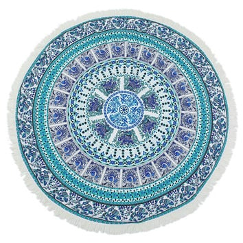Elephant Mandala Beach Towel