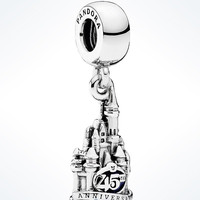 Disney Parks 45th Magic Kingdom Castle Sterling Silver Charm Pandora New