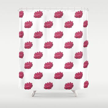 Red Rose 2 Shower Curtain by drawingsbylam