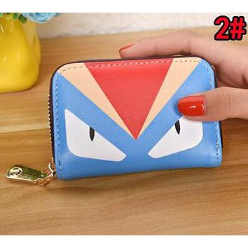 FENDI Women Men Clutch Bag Zero Wallet Purse Card Bag 2#