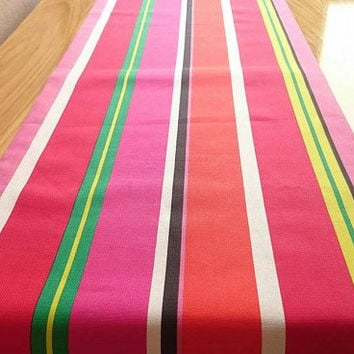 Colorful Stripe Table Runner, Decorative Table Runner, Dining Table Cover, Handmade Table Runner, Multiple Color Table Runner, Bridal Shower