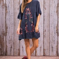 Dessert Flower Dress, Navy