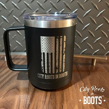 City Roots in Boots Flag Insulated Coffee Mug