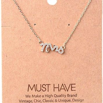 Must Have Necklace-Bling Mrs,  Rose Gold