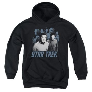 Star Trek - Kirk Spock And Company Youth Pull Over Hoodie
