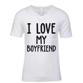 I Love My Boyfriend Men's V Neck