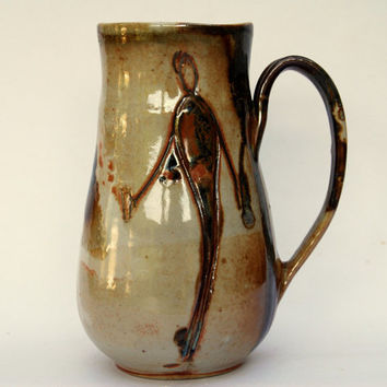 Handmade  mug by Elena Madureri. 26 oz. Pottery Mug . Stoneware Mug / Coffee Cup -  Ceramic Coffee Mug, Pottery Handmade.