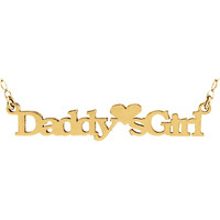 """14kt Yellow """"Daddy's Girl"""" Pendant with 15"""" Chain"""