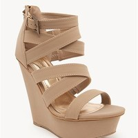 A'GACI Brucee-06 Multi Strap Nubuck Wedge - New Arrivals