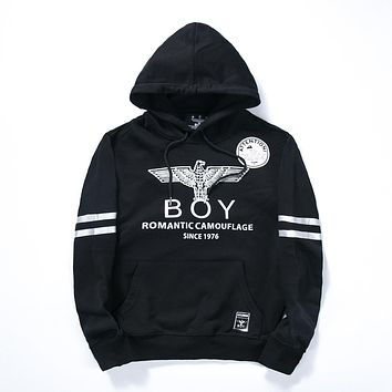 Men's Boy London Hoodie Black White Hooded Sweatshirt