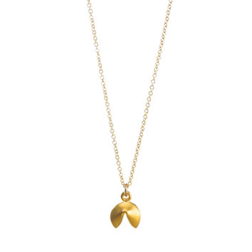 Good Fortune Cookie Necklace, Gold Dipped | Dogeared