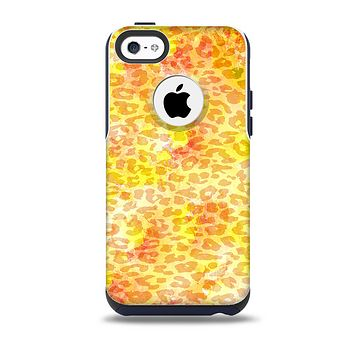 Bright Yellow and Orange Leopard Print Skin for the iPhone 5c OtterBox Commuter Case