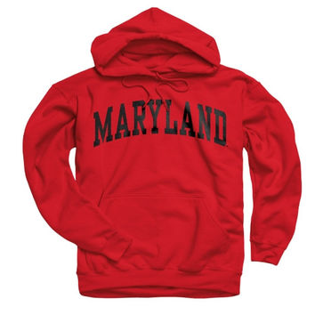 Maryland Terrapins Red Arch Hooded Sweatshirt